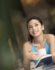 Bild junge Frau als Beispiel Profil- Foto