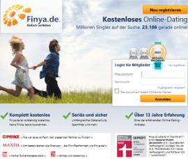 kostenlose Singleboerse Finya.de Screenshot