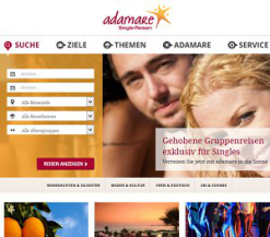 Adamare-Singlereisen screen