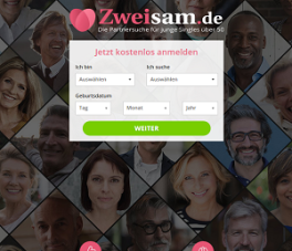 Zweisam.de screen
